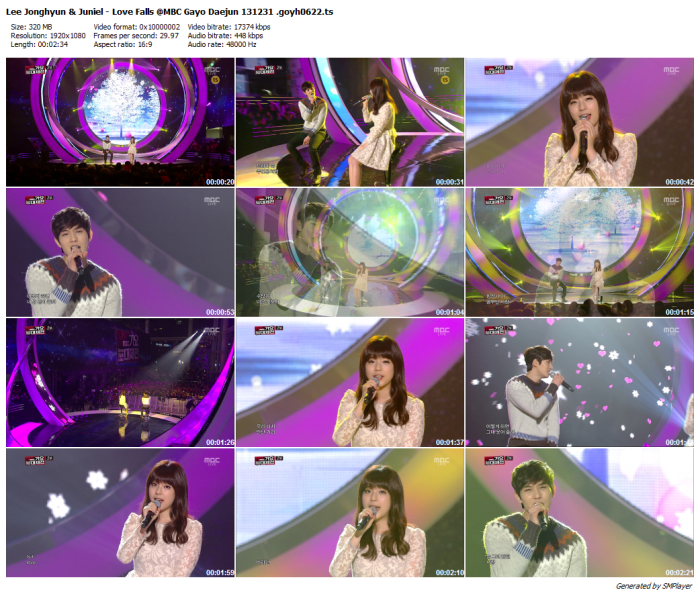 Lee Jonghyun & Juniel - Love Falls @MBC Gayo Daejun 131231 .goyh0622_preview