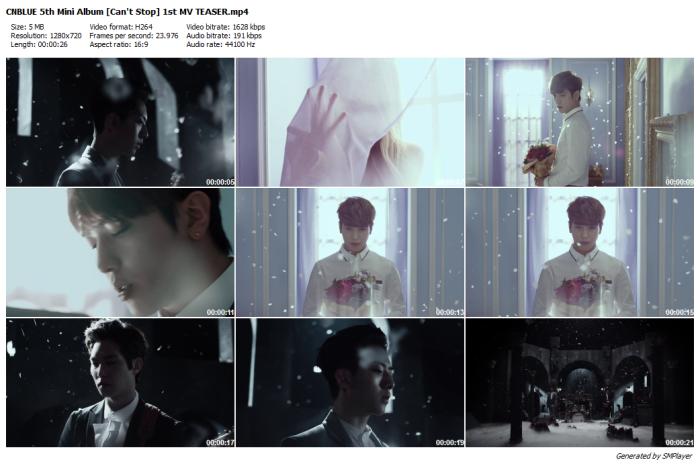 CNBLUE 5th Mini Album [Can't Stop] 1st MV TEASER