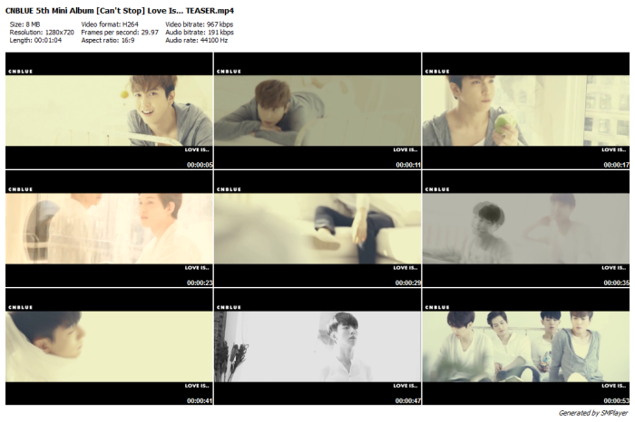 CNBLUE 5th Mini Album [Can't Stop] Love Is... TEASER