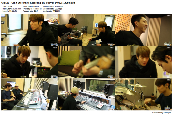 CNBLUE - Can't Stop Music Recording BTS @Naver 140225 1080p_preview