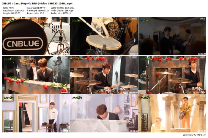 CNBLUE - Cant Stop MV BTS @Melon 140225 1080p_preview