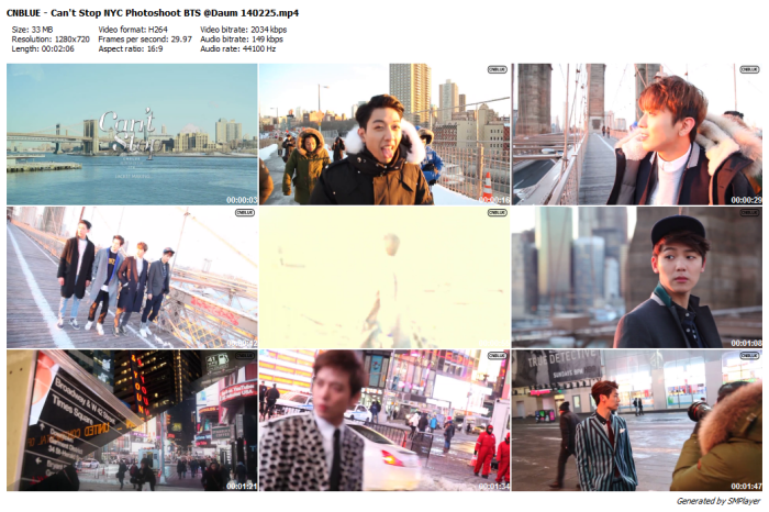 CNBLUE - Can't Stop NYC Photoshoot BTS @Daum 140225_preview