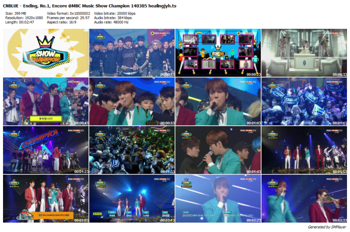 CNBLUE - Ending, No.1, Encore @MBC Music Show Champion 140305 healingjyh_preview