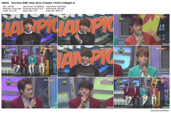 CNBLUE - Interview @MBC Music Show Champion 140305 healingjyh_preview