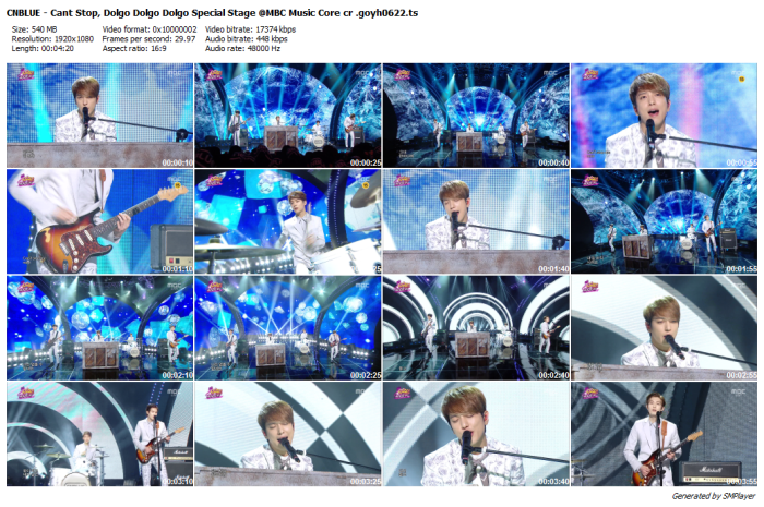 CNBLUE - Cant Stop, Dolgo Dolgo Dolgo Special Stage @MBC Music Core cr .goyh0622_preview