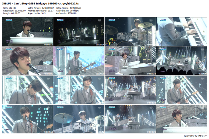 CNBLUE - Can't Stop @SBS Inkigayo 140309 cr. goyh0622_preview